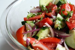 Tomato, Cucumber & Red Onion Salad